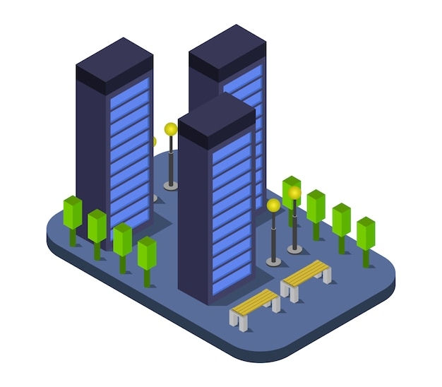 Grattacielo isometrico