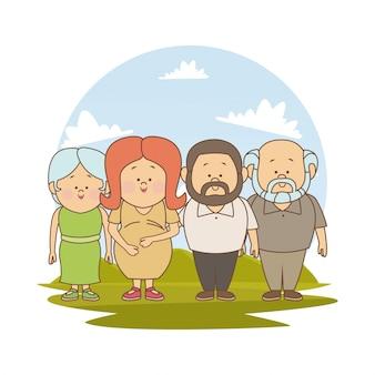 Gravidanza mamma vecchio padre e nonni