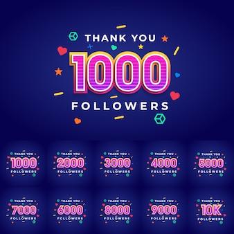 Grazie a voi seguaci congratulazioni