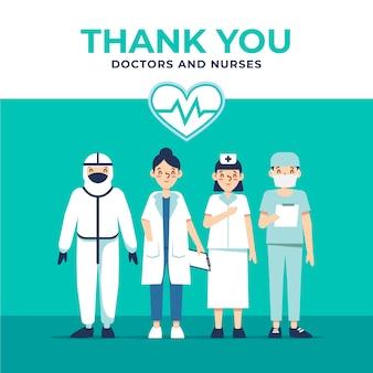 Grazie medici e infermieri