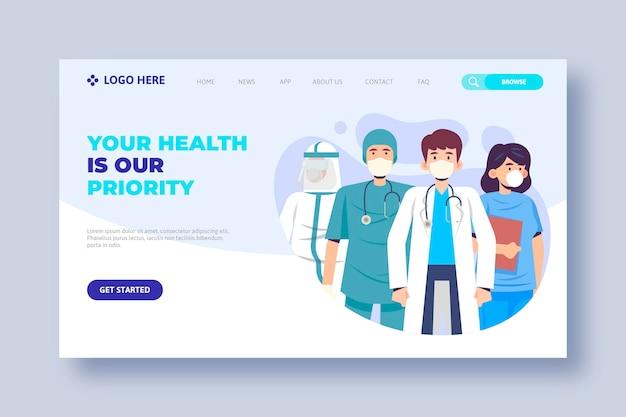 Grazie pagina di destinazione personale medica