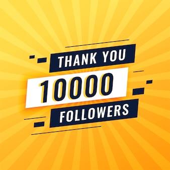 Grazie post per 10.000 follower sui social media