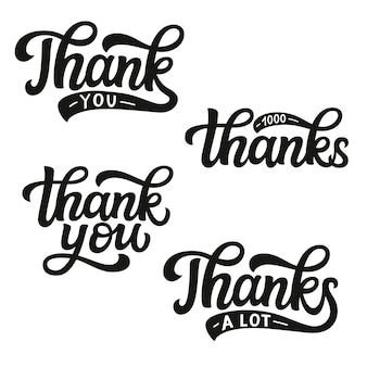 Grazie set di lettere