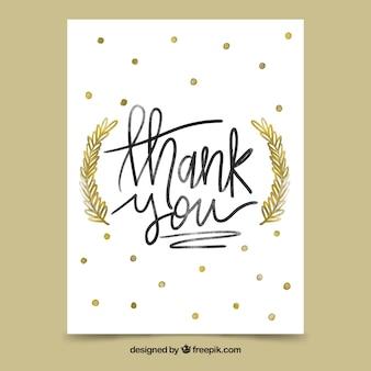 Grazie Sfondo Con Scritte Dorate Scaricare Vettori Gratis