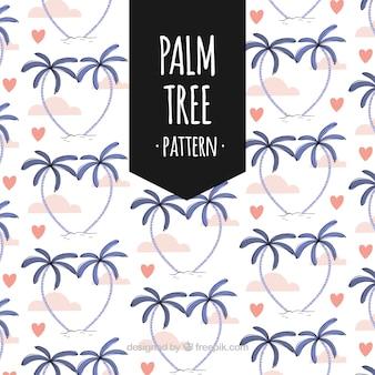Grazioso modello di palme e di acquerello