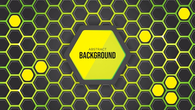 Green abstract hexagon background design