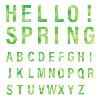 Green hello sping!