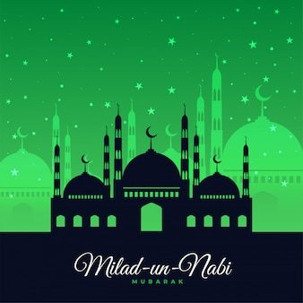 Green milad un nabi festival card