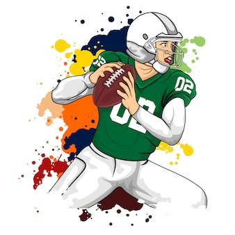 Green player football americano