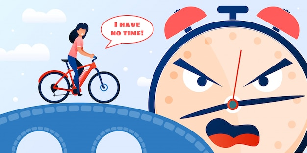 Gridare in ritardo della sveglia della donna e del ciclismo della donna