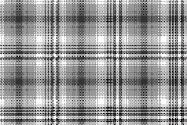 Grigio bianco nero pixel check plaid senza cuciture