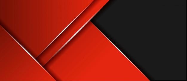Grigio e rosso moderni astratti con il fondo dell'insegna di strato di sovrapposizione