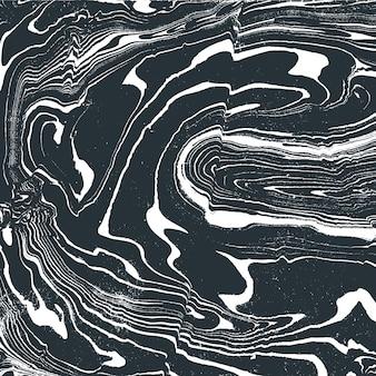 Grigio monocromatico pittura ad acqua suminagashi decorazione astratta disegnata a mano sfondo bianco