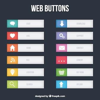 Grigio pulsanti web collezione
