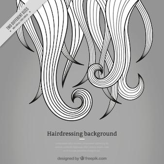 Grigio salone di coiffure sfondo