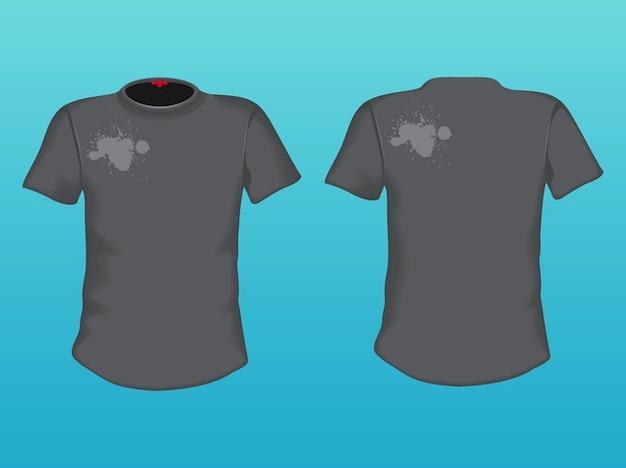 Grigio t-shirt di moda decorazione della vernice