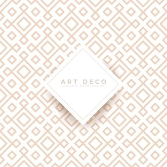 Griglia di sfondo senza cuciture art deco di lusso