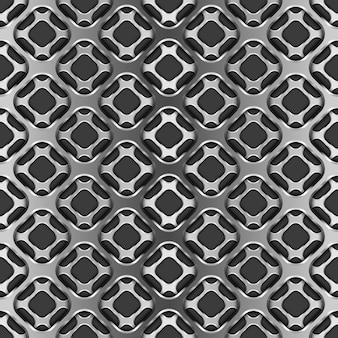 Griglia metallica con ombra sul modello nero e senza soluzione di continuità