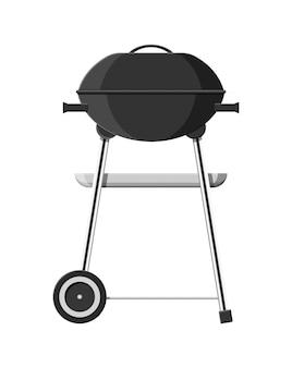 Griglia per barbecue rotonda. icona barbecue. grill elettrico.