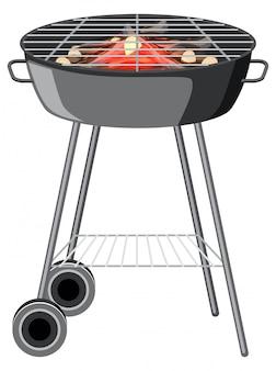 Griglia per barbecue su bianco