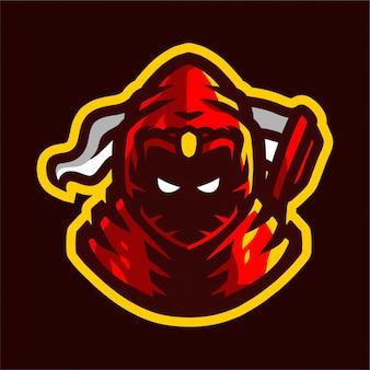 Grim reaper con logo e-sport dell'arma