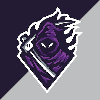 Grim reaper esport logo template
