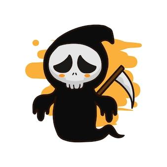 Grim reaper hand drawn vector