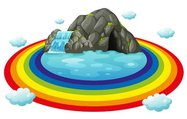 Grotta e arcobaleno
