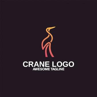 Gru logo design ispirazione eccezionale