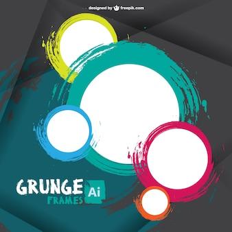 Grunge frame vettore