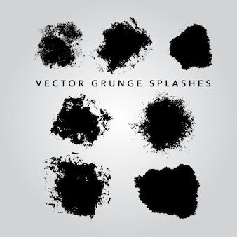 Grunge splashes collection