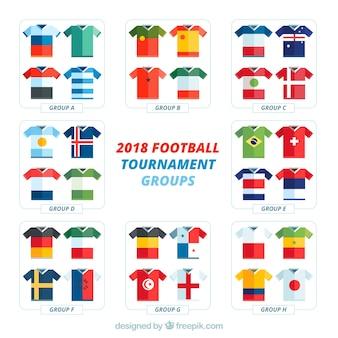Gruppi di campionati mondiali di calcio con bandiere diverse