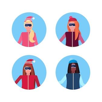 Gruppo di avatar di donne
