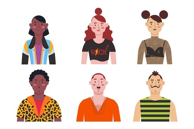 Gruppo di avatar di persone