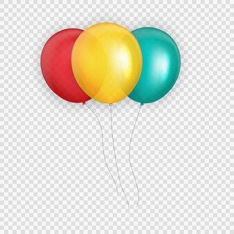 Gruppo di elio lucido colore palloncini sfondo
