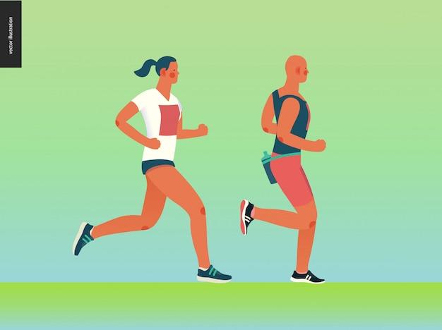 Gruppo di gara della maratona