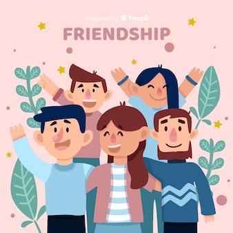 Gruppo di giovani che si abbracciano insieme
