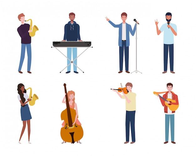Gruppo di giovani che suonano strumenti musicali