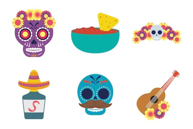 Gruppo di icone messicane