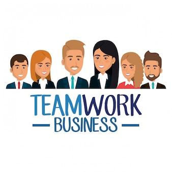 Gruppo di illustrazione di lavoro di squadra delle persone di affari