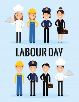 Gruppo di lavoratori professionisti