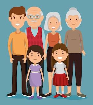 Gruppo di personaggi avatar personaggi della famiglia