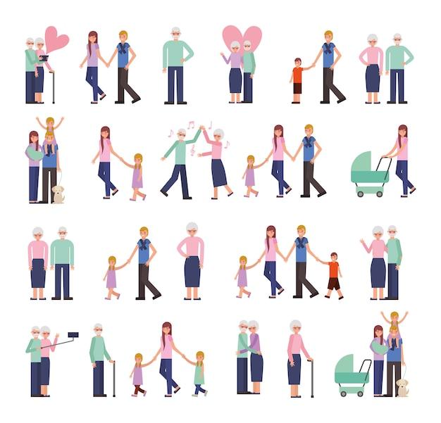 Gruppo di personaggi familiari