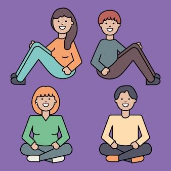 Gruppo di persone avatar personaggi