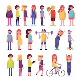 Gruppo di persone comuni che svolgono attività