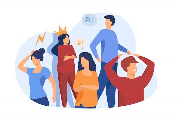 Gruppo di persone con comportamento problematico