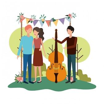 Gruppo di persone con lo strumento musicale