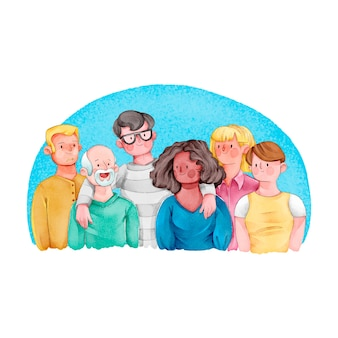Gruppo di persone di amicizia insieme