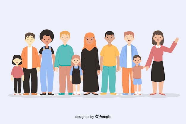 Gruppo di persone di razze diverse