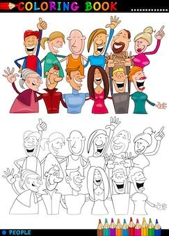 Gruppo di persone felici per la colorazione